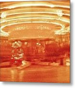 History In Motion At Night Metal Print