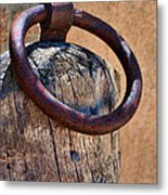 Hitching Post #1 Metal Print