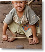 Hmong Boy Metal Print by Adam Romanowicz