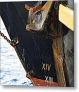 Hms Bounty Bow Metal Print by Patricia Trudell