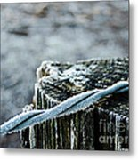 Hoar Frost At Sun Up Metal Print