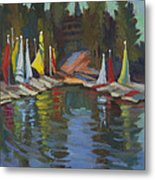 Hobie Cats At Lake Arrowhead Metal Print