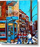Hockey At Wilensky's Diner Metal Print