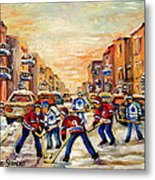 Hockey Daze Metal Print