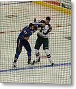 Hockey Fight Metal Print
