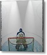 Hockey Goalie In Crease Metal Print