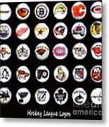 Hockey League Logos Bottle Caps Metal Print