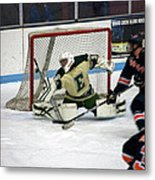 Hockey Off The Handle Metal Print
