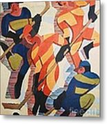 Hockey  Players Metal Print by Pg Reproductions