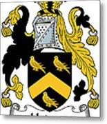 Hodson Coat Of Arms Irish Metal Print