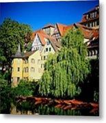 Hoelderlin Tower In Lovely Tuebingen Germany Metal Print