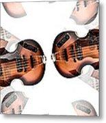 Hofner Bass Abstract Metal Print