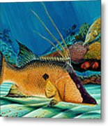 Hog And Filefish Metal Print