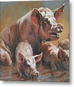Hog Heaven Metal Print