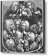 Hogarth: Physicians, 1736 Metal Print