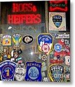 Hogs And Heifers Window Metal Print