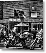 Hogs At The Tow Bar Inn - Old Forge New York Metal Print