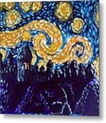 Hogwarts Starry Night Metal Print by Jera Sky