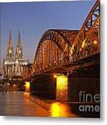 Hohenzollernbrucke In Cologne Metal Print