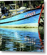 Hoi An Fishing Boat 01 Metal Print
