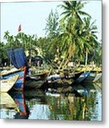 Hoi An Fishing Boats 01 Metal Print