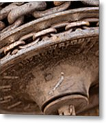 Hoist Wheel Metal Print