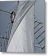 Hoisting The Mainsails Metal Print