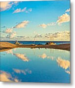 Hokulea Docked On Kailua Beach 3 To 1 Aspect Ratio  Metal Print