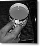 Holding A Full Cup Of Hot Tea Metal Print