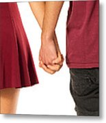 Holding Hands Metal Print by Carlos Caetano