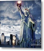 Holding Your Torch Metal Print