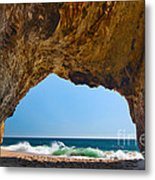 Hole In The Wall - Natural Tunnel In Santa Cruz Metal Print