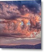 Holes In The Sunrise Clouds Metal Print