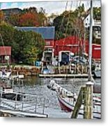 Holiday At Rockport Metal Print