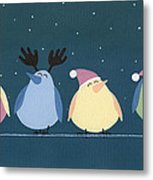 Holiday Birds Metal Print