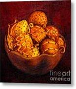 Holiday Citrus Bowl  Metal Print