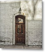 Holiday Door Metal Print