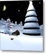 Holiday Falling Star Metal Print by Cynthia Decker