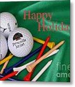 Holiday Golf Metal Print