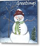Holiday Greetings Metal Print