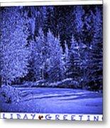 Holiday Greetings - Vail - Colorado Metal Print