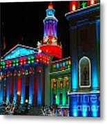 Holiday Lights 2012 Denver City And County Building A1 Metal Print