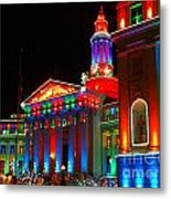 Holiday Lights 2012 Denver City And County Building B2 Metal Print