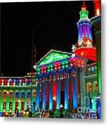 Holiday Lights 2012 Denver City And County Building C1 Metal Print