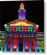 Holiday Lights 2012 Denver City And County Building D3 Metal Print