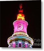 Holiday Lights 2012 Denver City And County Building F4 Metal Print