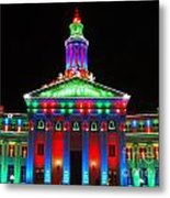 Holiday Lights 2012 Denver City And County Building G1 Metal Print