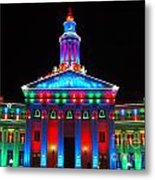 Holiday Lights 2012 Denver City And County Building G2 Metal Print