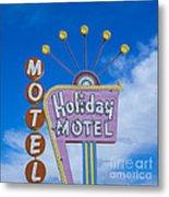 Holiday Motel Metal Print