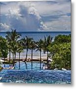 Holiday Resort With Jacuzzi And Pool Metal Print
